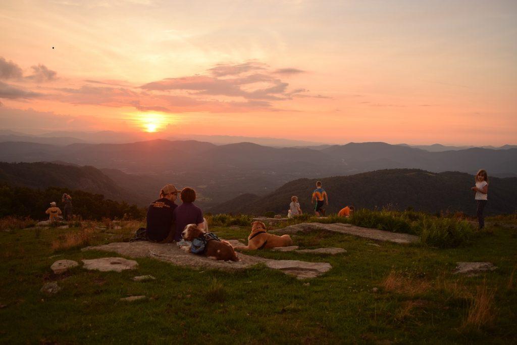 Bearwallow Mountain at sunset.