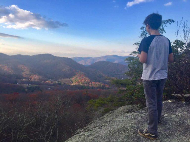 boy on wildcat rock trail