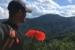 Peter Barr, WPM Trail Designer, looking at trail's destination Eagle Rock