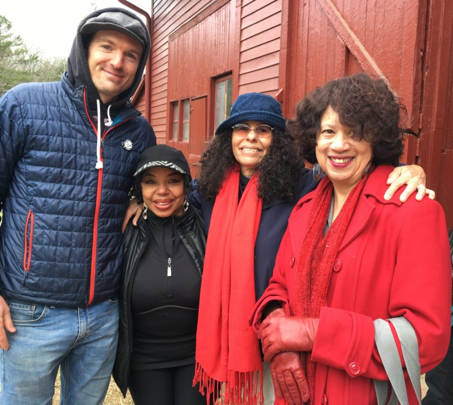 Tony, Tanya, Flo, and Kathy at Visit to Carl Sandburg House with Petermans