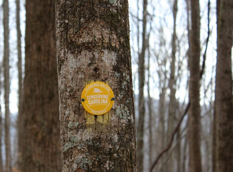 Florence Nature Preserve Trail Marker