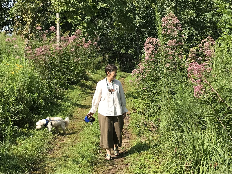 Founder Caroline Yongue walks in the sanctuary