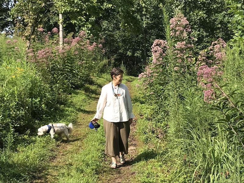 Founder Caroline Yongue walks in the sanctuary