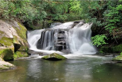 East Fork Falls in Headwaters State Forest. Photo by Mark File, RomanticAsheville.com