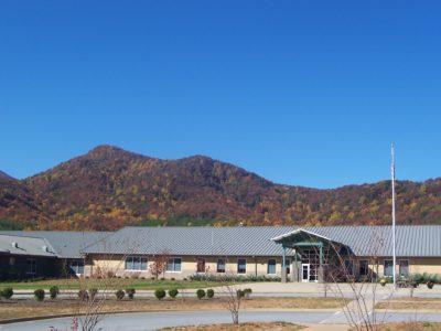 View of Little White Oak from Polk County Middle School.