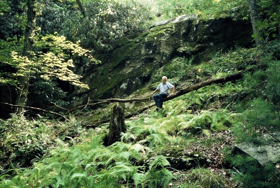 John Humphrey in the woods, 2006