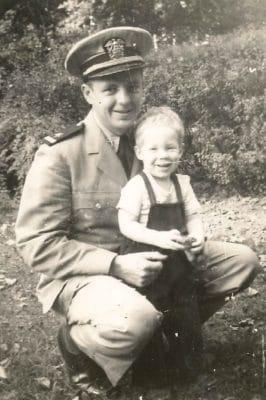 John Humphrey with infant son David