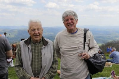 John and David Humphrey on Bearwallow Mountain