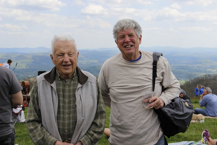 John and David Humphrey on Bearwallow Mountain