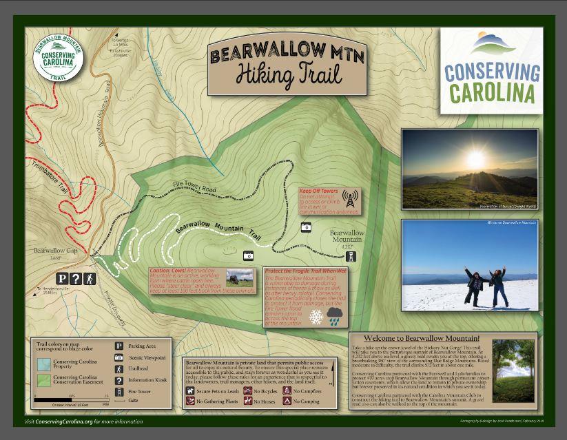 Bearwallow Mountain Trail Map