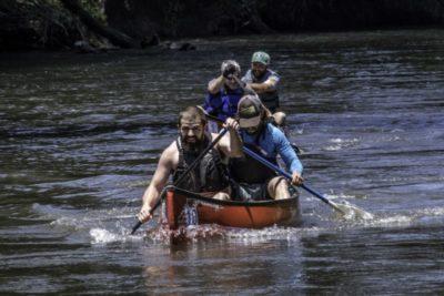 Hellbender 20 Miler canoe relay race