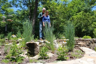 Loti and Dale planted hundreds of native plants to improve habitat at their home in Tryon.
