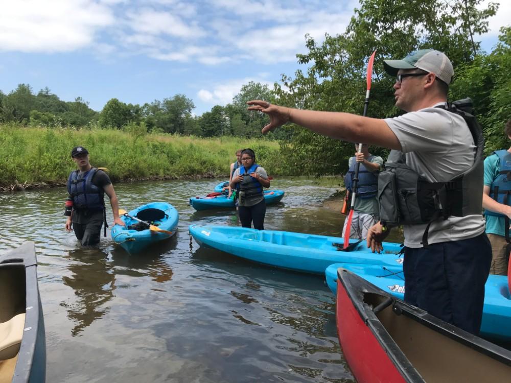 Kayaking during Summer of Service