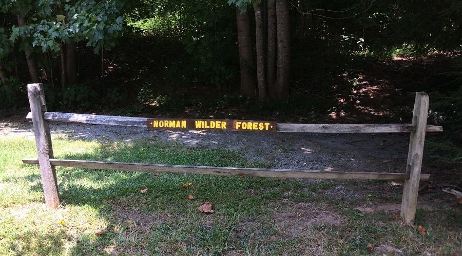Norman Wilder Forest sign