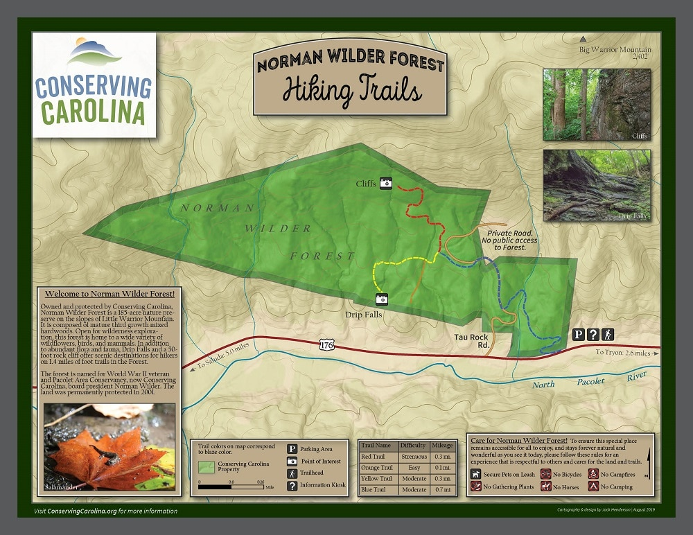 Norman Wilder Forest Trail Map