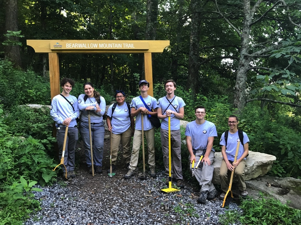 Summer of Service at Bearwallow Trail