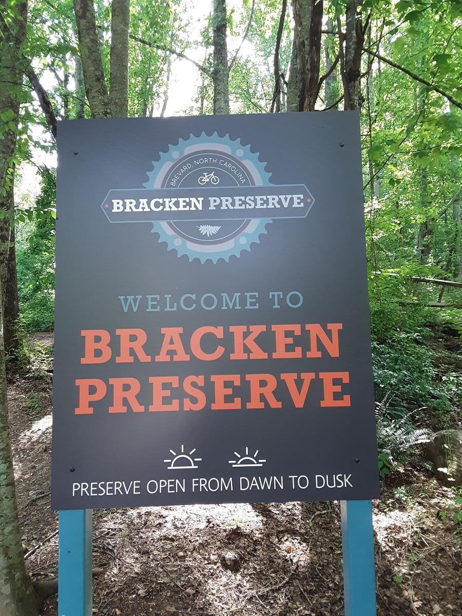 Bracken Mountain Preserve sign
