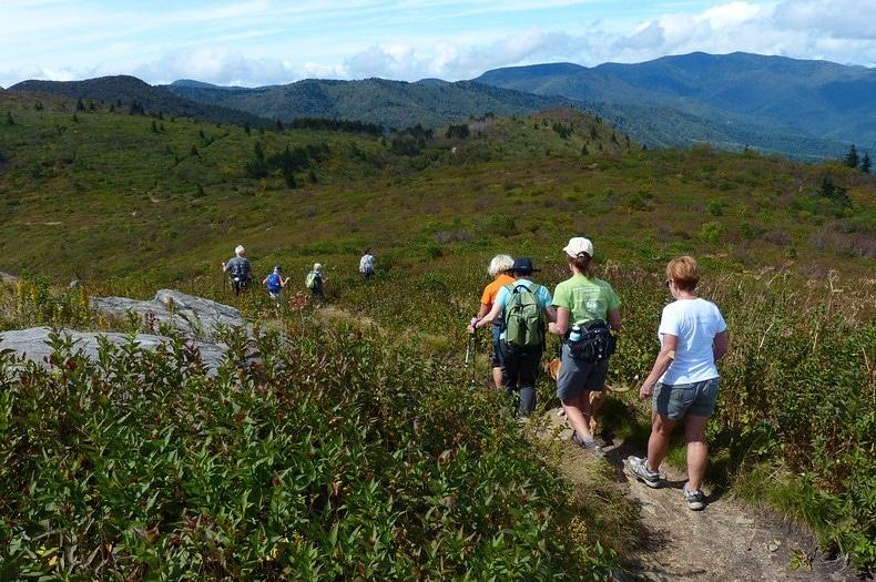 Fall hike at Black Balsam Knob