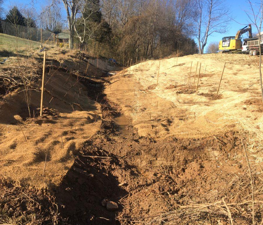 Stream restoration at Carolina Memorial Santuary