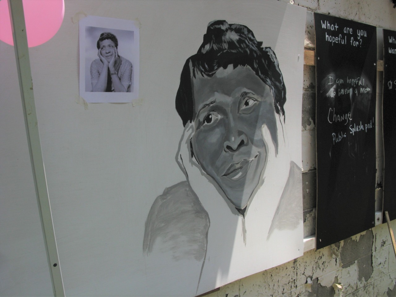 Painting of Moms Mabley by Billy Smith
