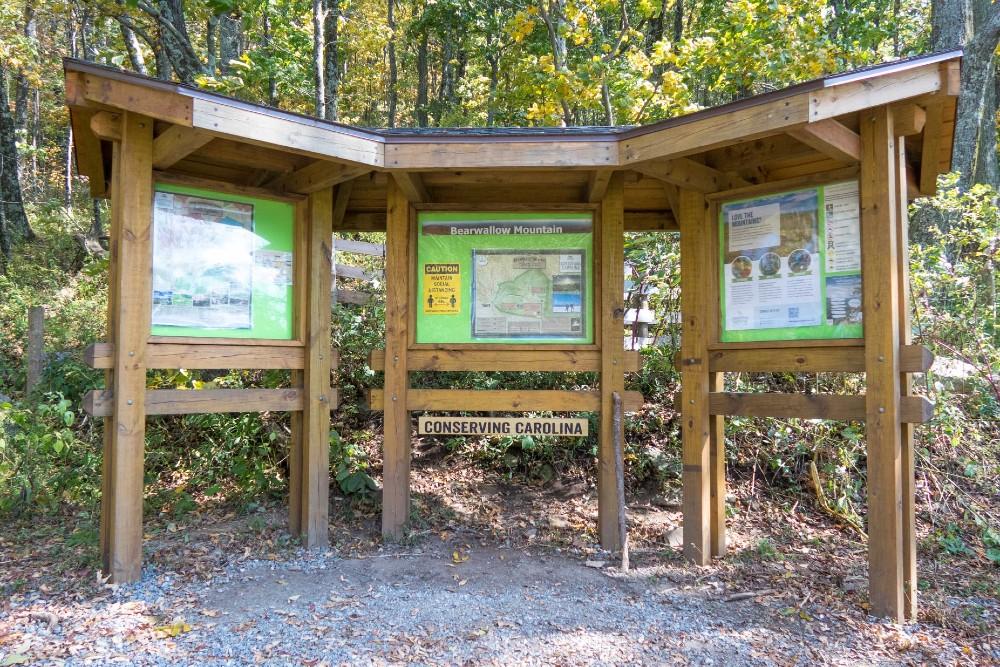 Bearwallow Mountain Trailhead Kiosk