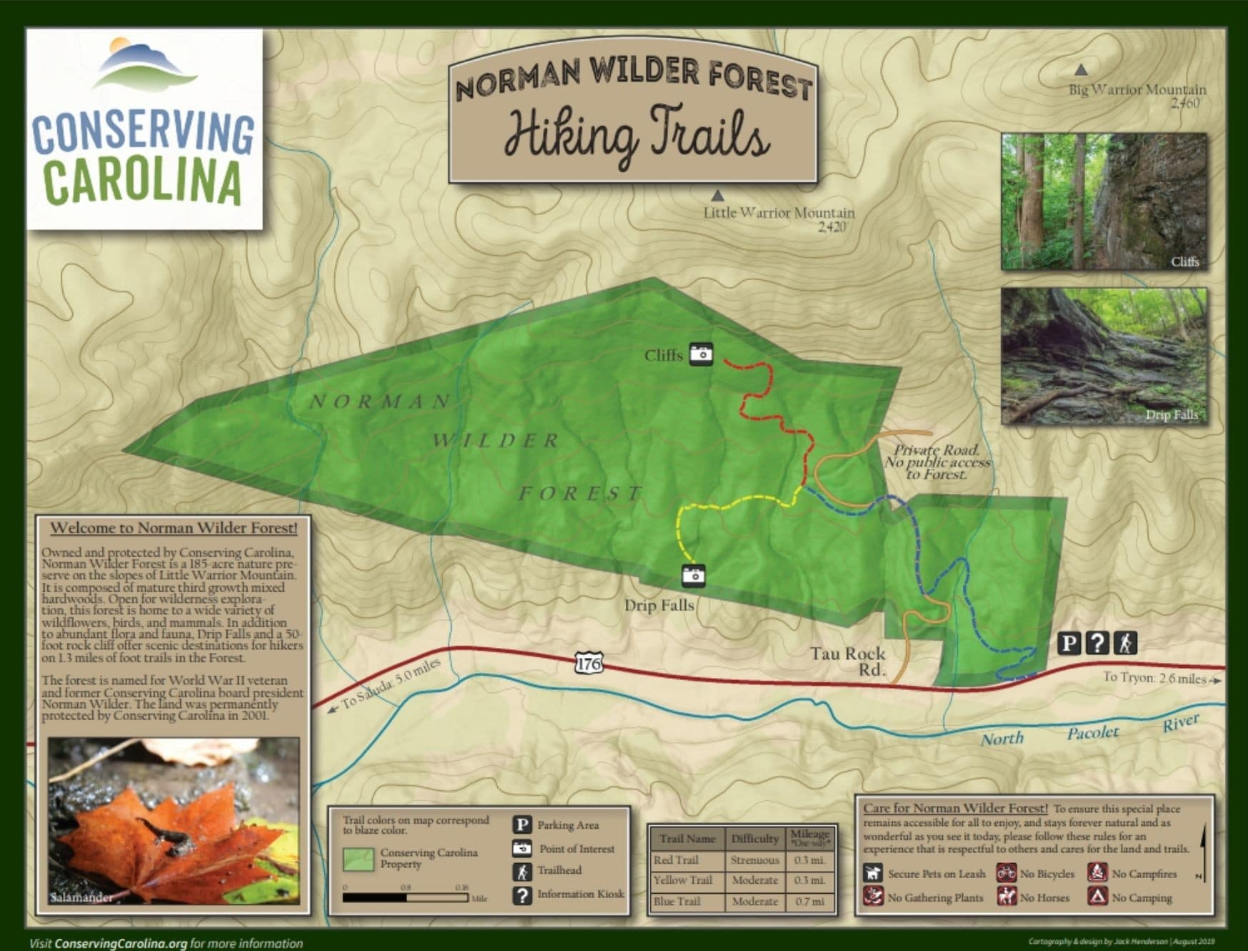 Norman Wilder Forest Map