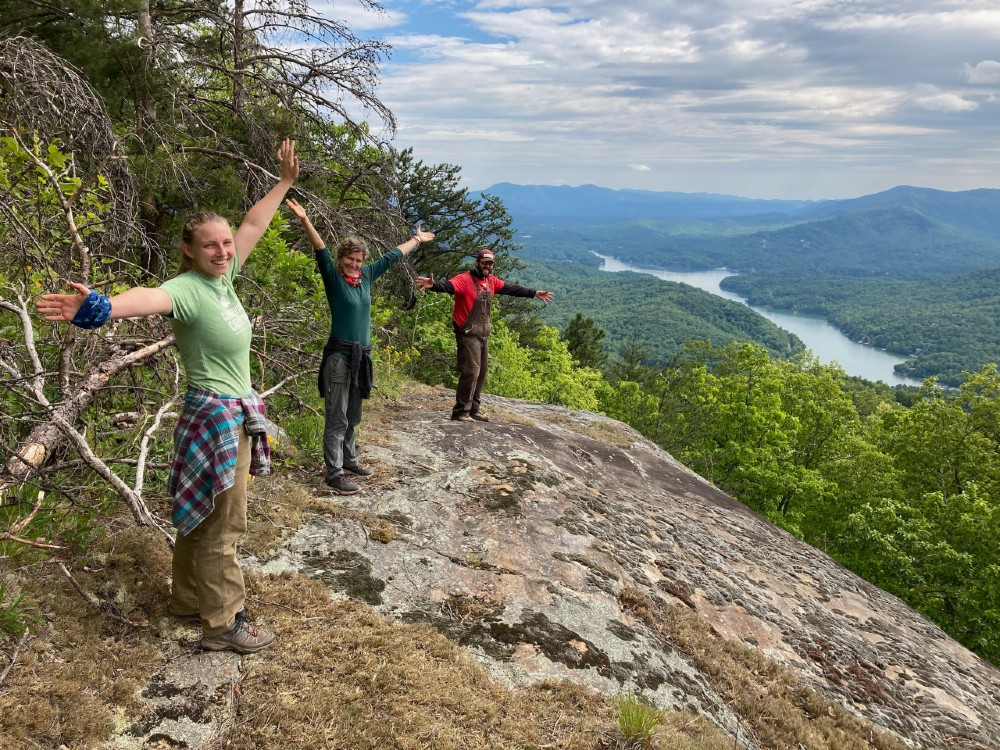 AmeriCorps and Rock Crushers on Youngs Mountain