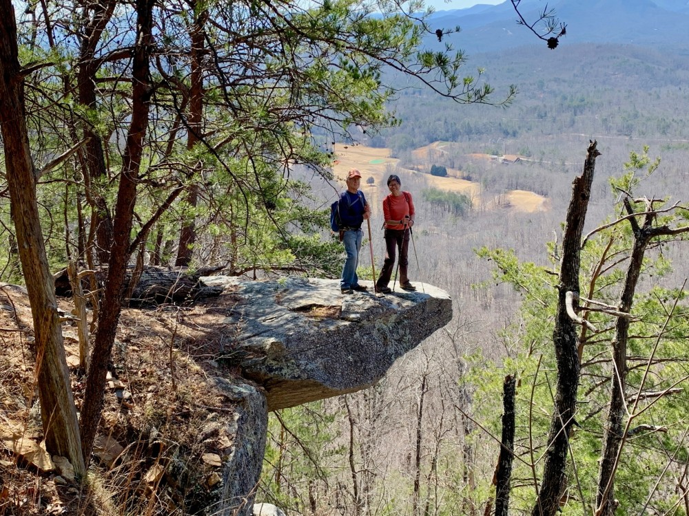 Bob Carlson and Kim Chao on Youngs Mountain Trail